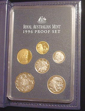 1996-Australian-Proof-set-of-coins-in-box-of-issue