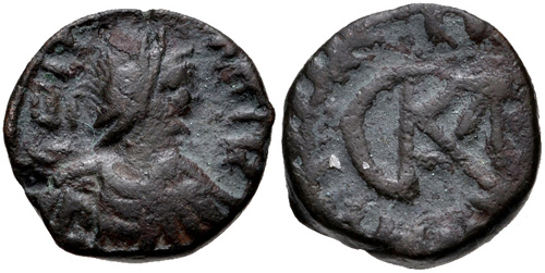 Vandals 5-6 Th Century Ae Nummus Very Rare. Dedicated Municipal Coinage Of Carthage